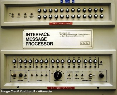 Pictured: The first Interface Message Processor from the U.S. Defense Department's ARPANET system, a predecessor to the modern internet. (Credit: FastLizard4 - Wikimedia)