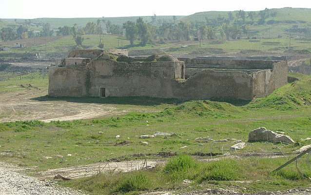 St. Elijah's Monastery, near Mosul, a site dating to 595 CE, seen here in 2005. (Credit: Doug - Wikimedia)