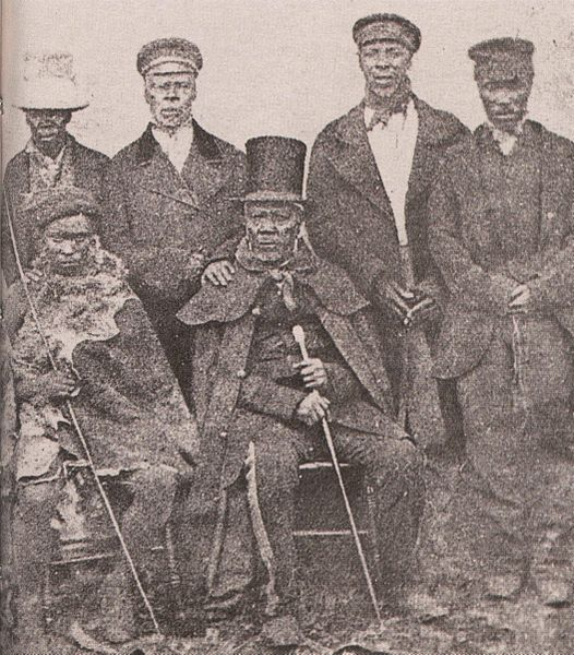 King Moshoeshoe I with his ministers of state (Bensusan Museum, Johannesburg - Wikimedia)