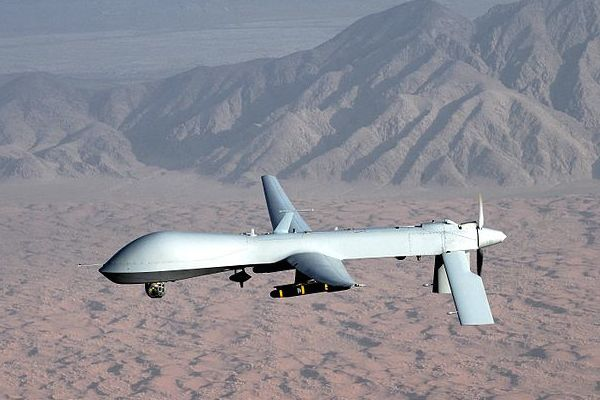 MQ-1 Predator unmanned aircraft. (U.S. Air Force photo/Lt Col Leslie Pratt via Wikimedia)
