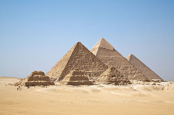 The Pyramids at Giza. (Credit: Ricardo Liberato via Wikimedia)