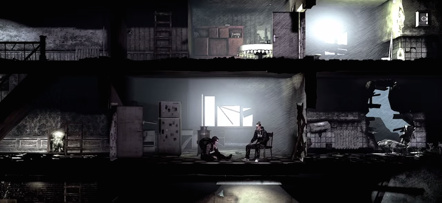 "An image from one of the trailer videos for ""This War of Mine."""