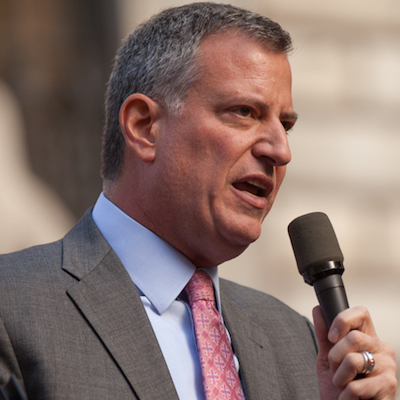 Mayor Bill de Blasio of New York City (Credit: Kevin Case via Wikimedia)