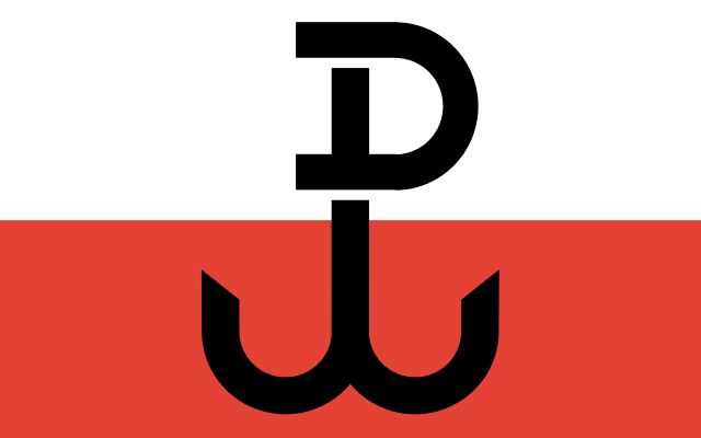 Flag of Poland's Home Army during World War II. (Credit: Bastianow - Wikimedia)