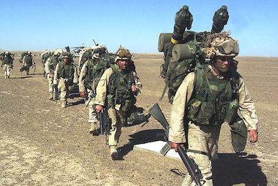 U.S. Marines in Afghanistan in November 2001. (US Marine Corps Photo)