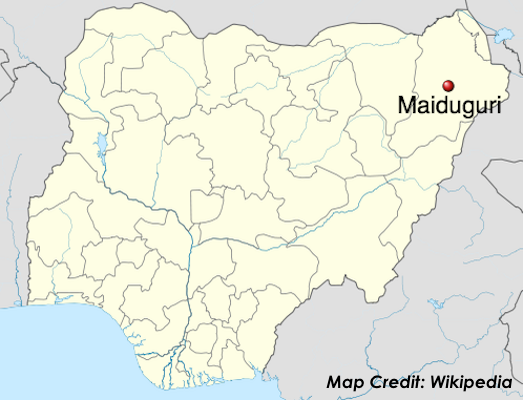 maiduguri-nigeria-map