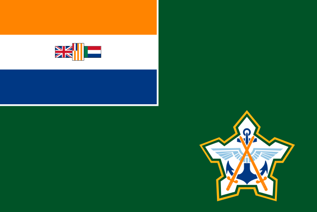 Ensign of the South African Defence Force 1981-1994 (via Wikimedia)