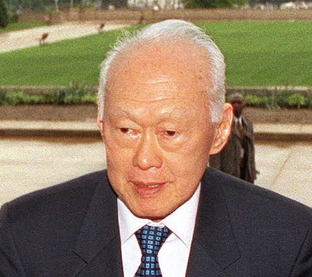 The late Lee Kuan Yew, Prime Minister of Singapore, 1959-1990; cabinet member, 1990-2012. (U.S. Government photo, 2002)