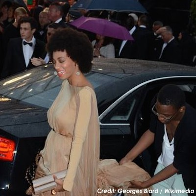 Solange Knowles proudly sporting natural hair at the Cannes Film Festival in 2013. (Credit: Georges Biard / Wikimedia)