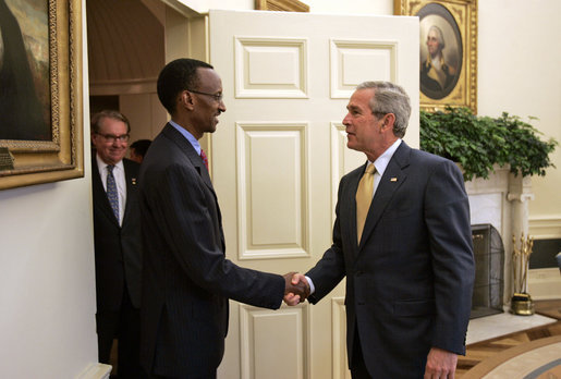 Presidents Kagame and Bush, May 2006