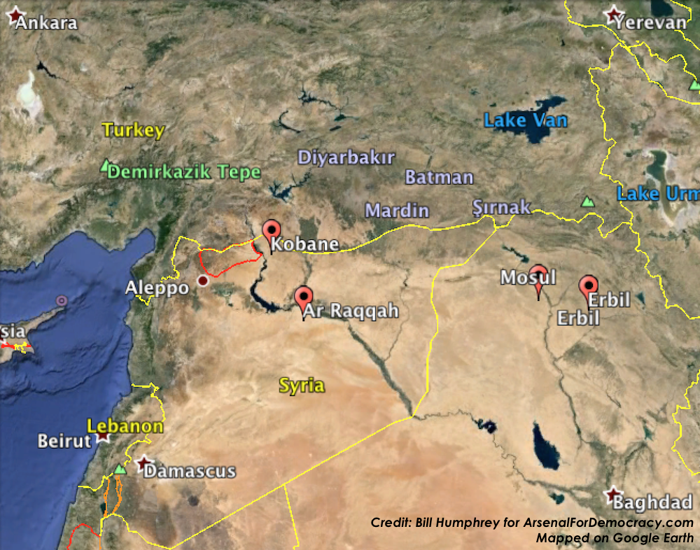 Syrian Kurdistan Archives Arsenal For Democracy - Map of syria and turkey