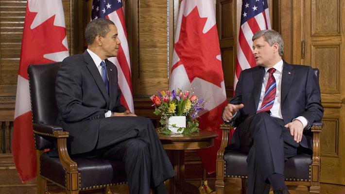 President Obama and Prime Minister Stephen Harper, February 2009. (White House photo by Pete Souza)