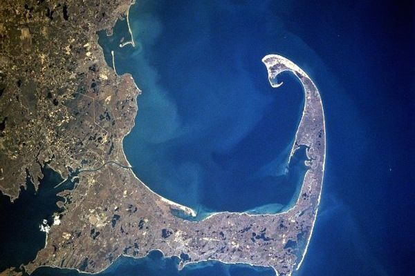 Cape Cod and Plymouth (NASA Satellite image, April 1997)