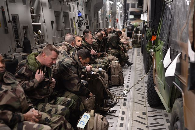 January 2013: French troops being airlifted to Mali. (U.S. Air Force photo by Staff Sgt. Nathanael Callon)